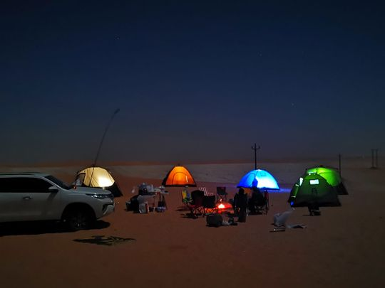 Photos: Gulf News reader shares pictures of family's desert safari in Al Quaa Milky Way Spot in Abu Dhabi